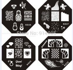 Online Shop Serie Kd Placas De Uñas Uñas De Arte Sello En La