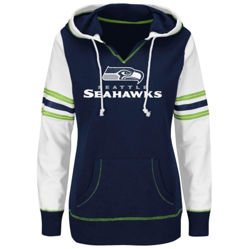 Unisex Seattle Seahawks Klew Navy Slogan Crew Knit Ugly Sweater