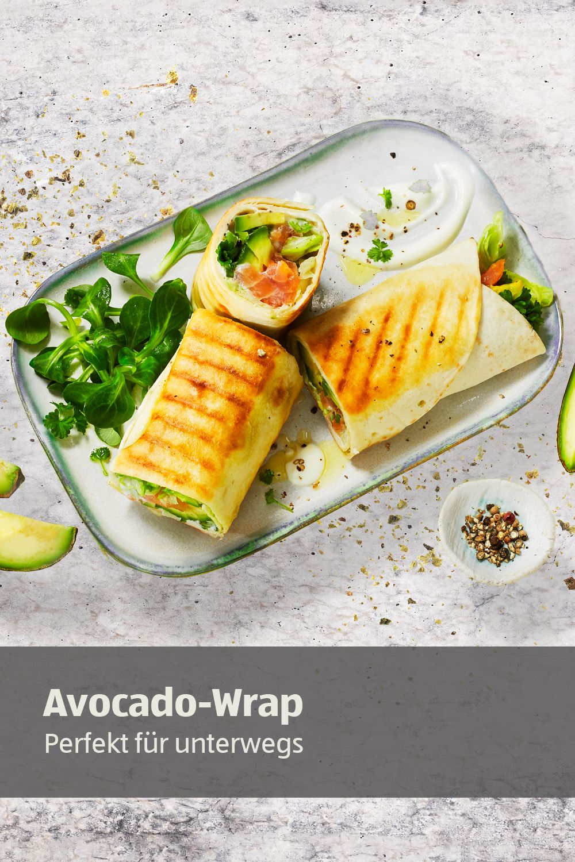Photo of Crunchy wraps with avocado and smoked salmon