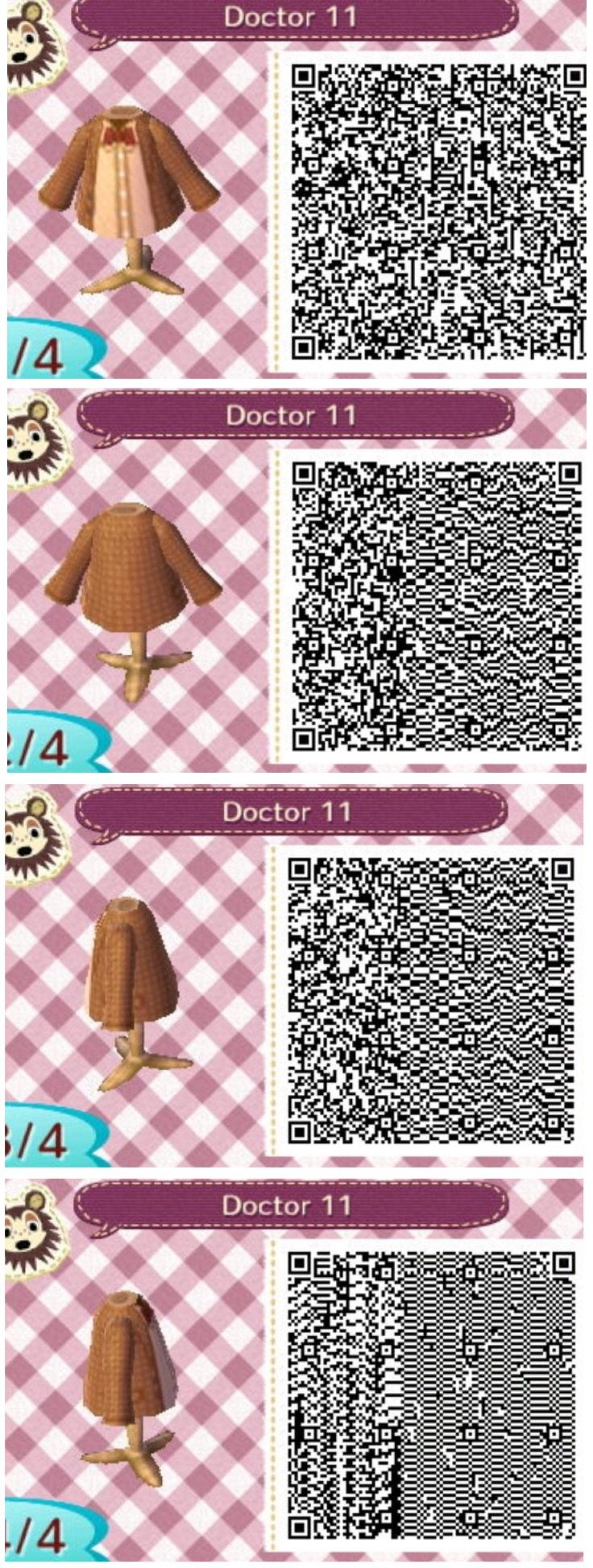 The 11th Doctor Who Animal Crossing New Leaf Qr Codes Animal