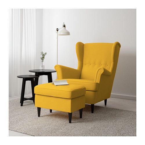 Strandmon Ottoman Skiftebo Yellow Ikea Comfy Chairs House