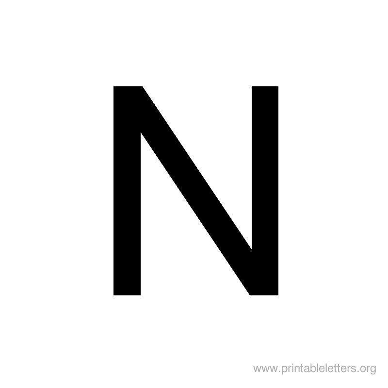Free Printable Uppercase Letters Printable Letters N Letter N