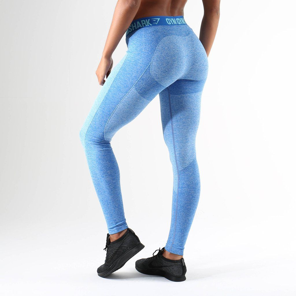 5244fcf43b0526 Gymshark Flex Leggings - Blueberry Marl/Marine Blue | Women Workout ...