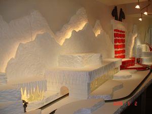 i need foam Christmas village display, Christmas village