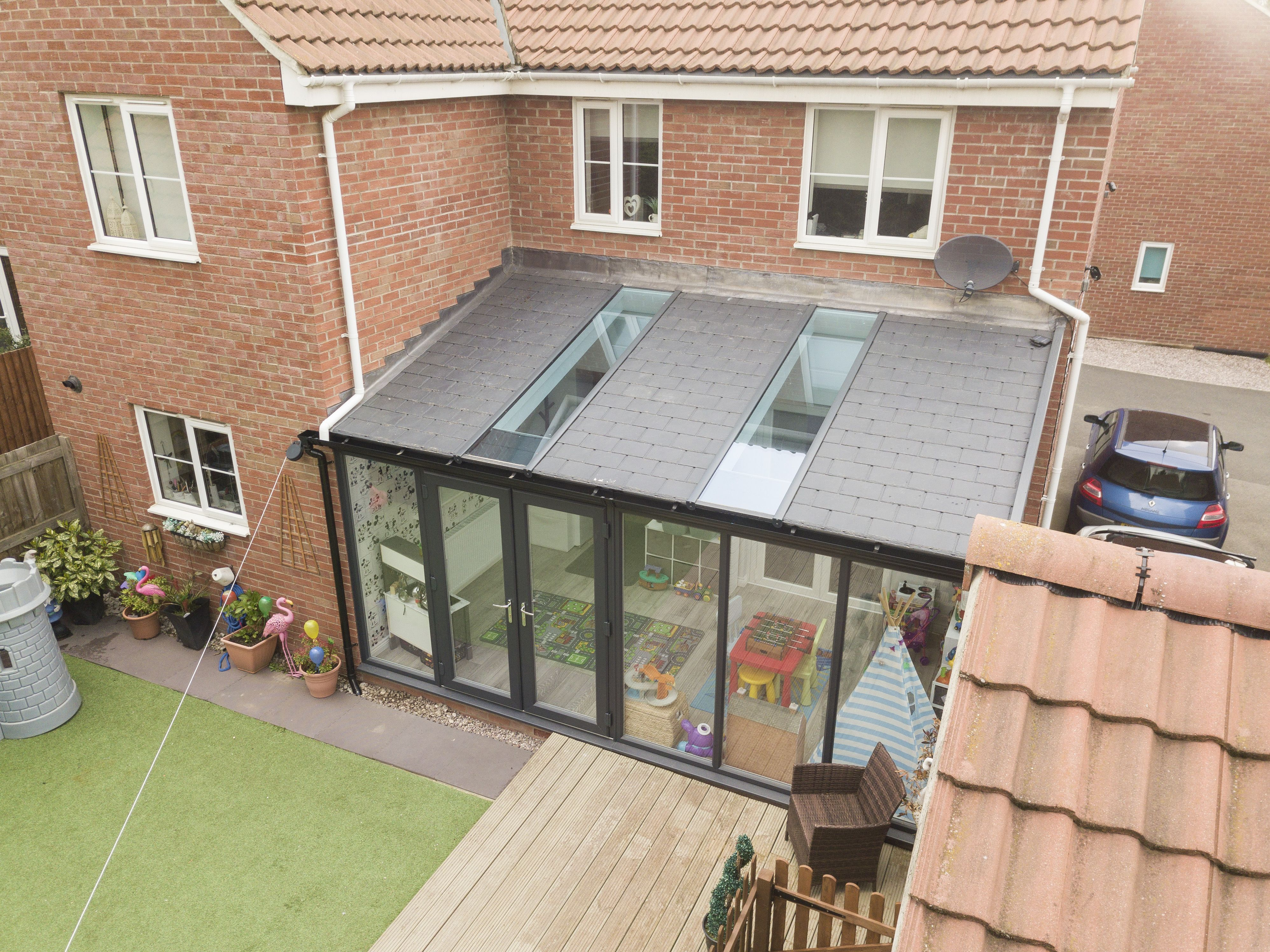 Lean To Garden Room Garden Room Gardenroom This Lean To Conservatory Features The Ultrar In 2020 Garden Room Extensions Tiled Conservatory Roof Lean To Conservatory