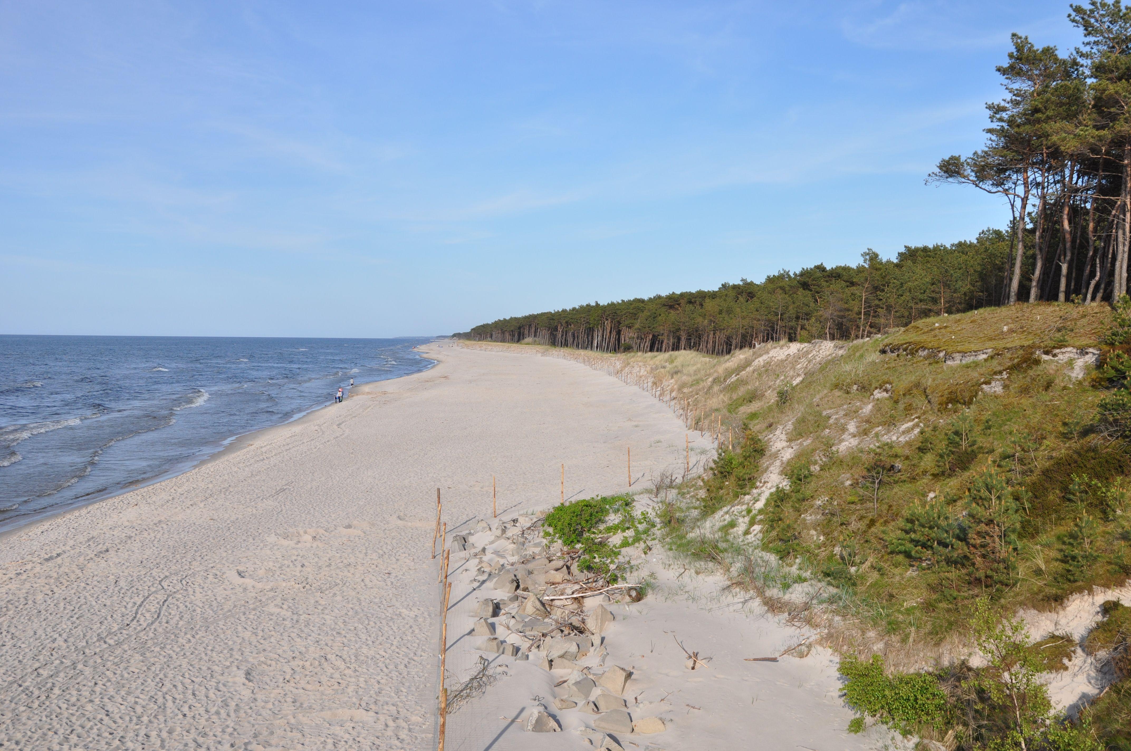 Beach on the Baltic Sea Poland