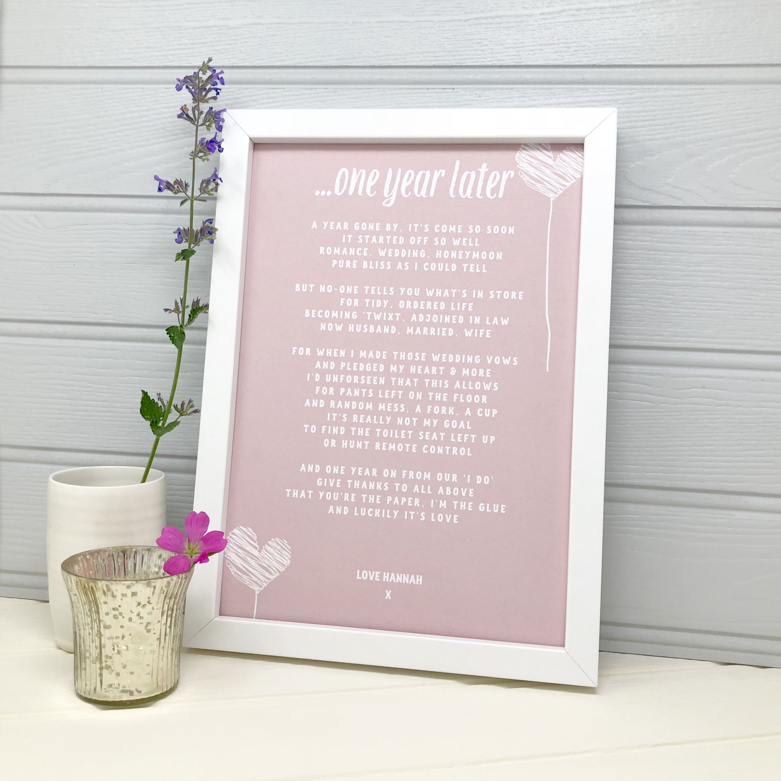 Personalised First Anniversary Gift 1st Wedding Anniversary Gift For Husband 1st Wedding Anniversary Gift Wedding Anniversary Gifts 1st Wedding Anniversary