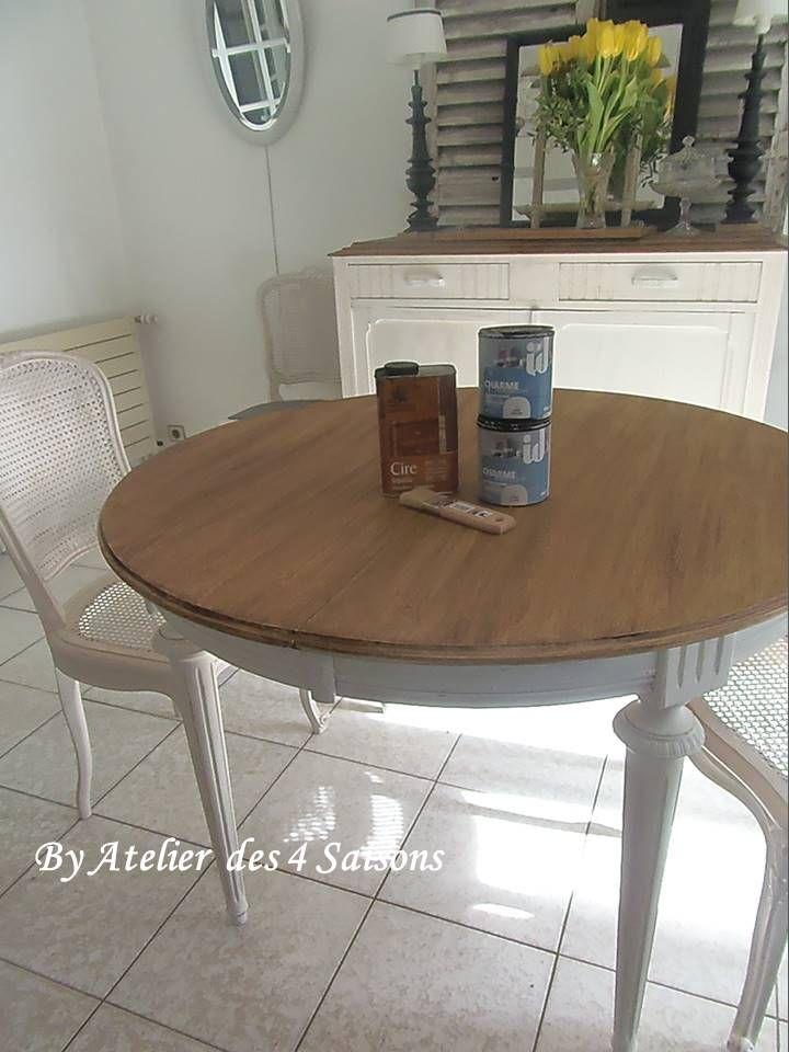 par table ronde ancienne. Black Bedroom Furniture Sets. Home Design Ideas