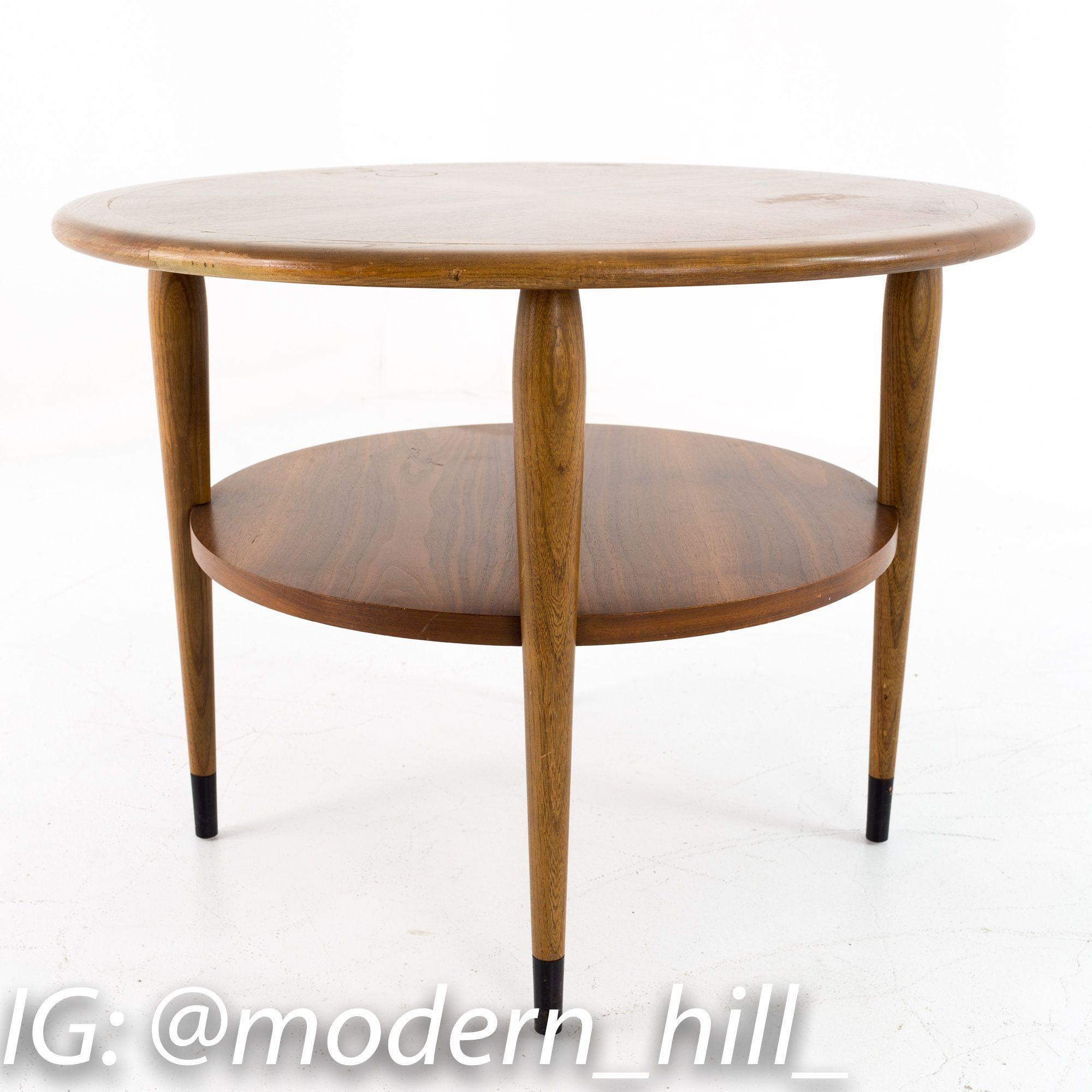 Lane Acclaim Mid Century Two Tier Round Side End Table In 2020 End Tables Mid Century Modern Furniture Online