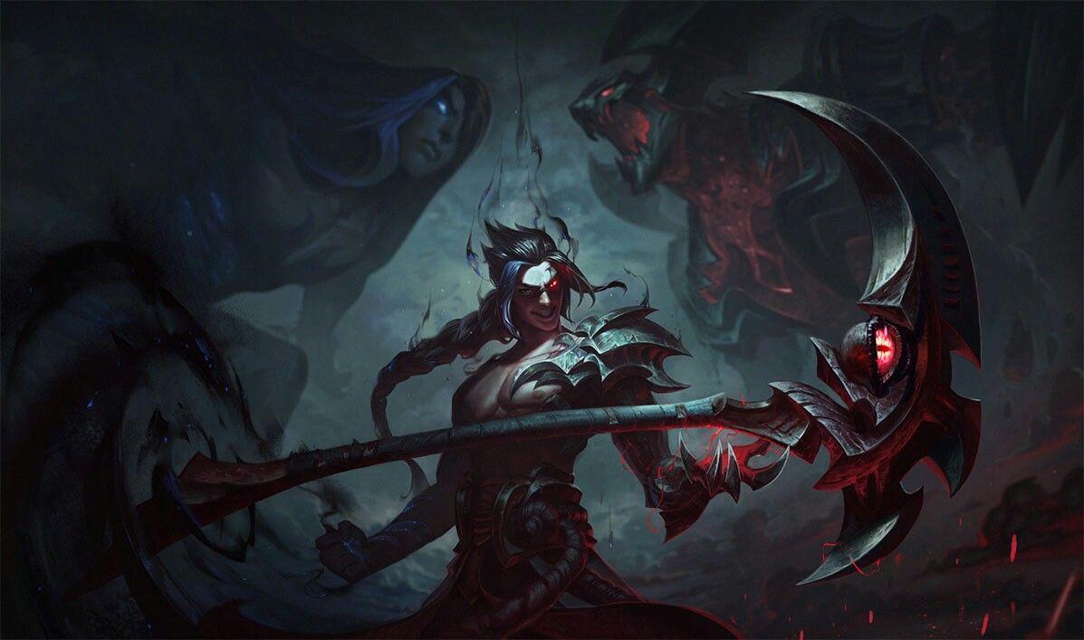 Kayn The Shadow Reaper League Of Legends League Of Legends Ilustrasi Karakter Artis