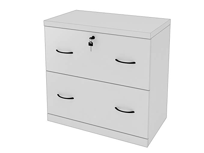 Amazon Com Z Line Designs 2 Drawer White Lateral File White Kitchen Dining 132 Filing Cabinet Drawers Home Office Cabinets