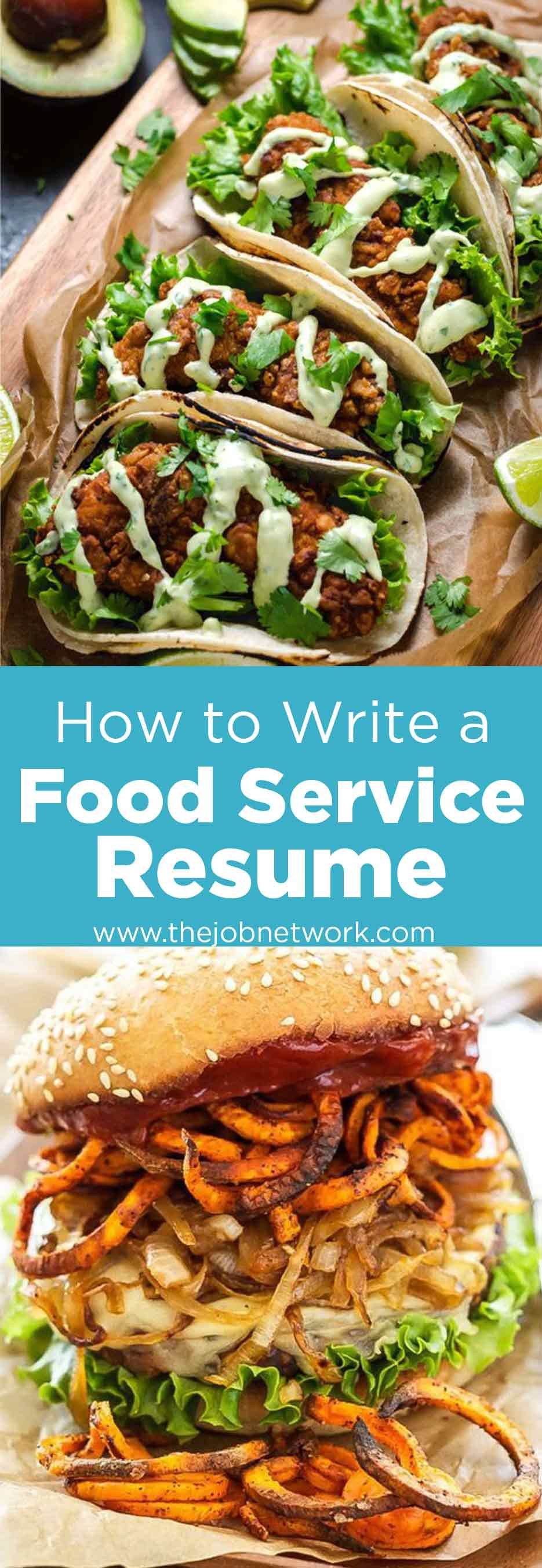 How to write a perfect food service resume examples