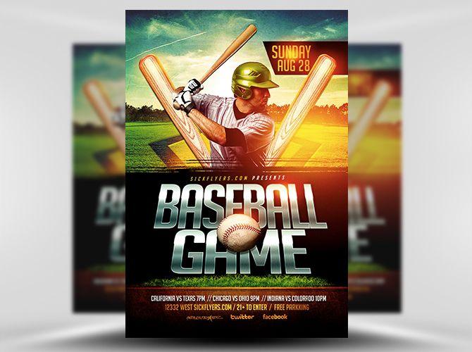 Baseball Flyer Template 1 Flyer Templates Pinterest Flyer - baseball flyer