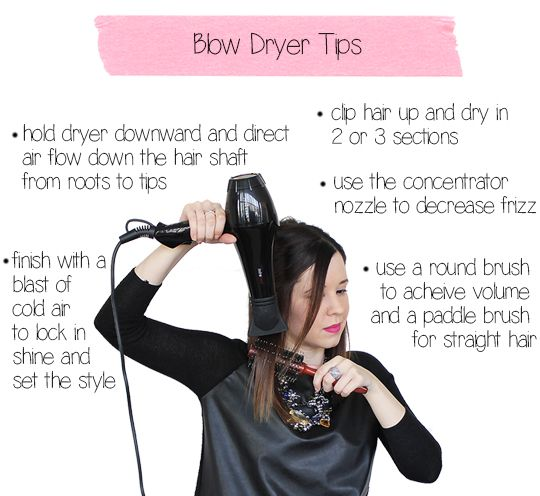 Blow Dryer Tips For Beginners Blow Dry Hair Makeup Tips For Beginners Hair Hacks