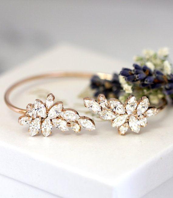 Bridal Bracelet White Crystal Wedding Braceletswarovski