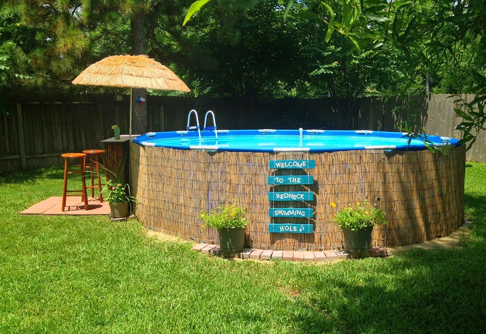 Top 110 Diy Above Ground Pool Ideas On A Budget Backyard Pool In Ground Pools Above Ground Pool Landscaping