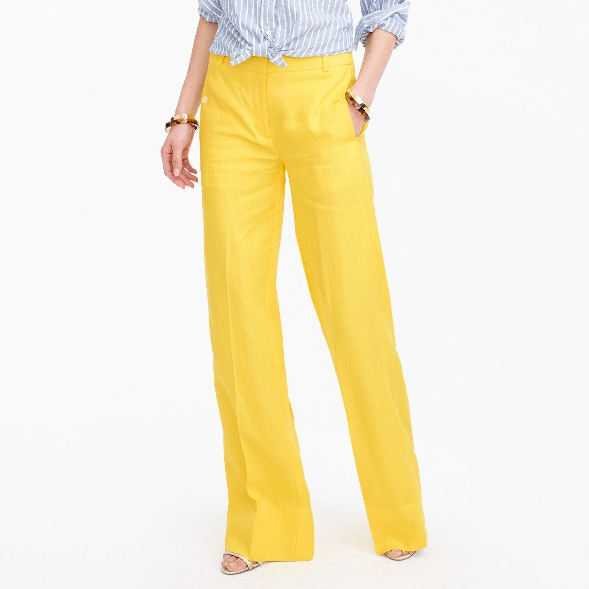 Yellow Linen Must Have For Spring And Summer Yellow Linen Pants Linen Pants Pants For Women [ 1200 x 1200 Pixel ]