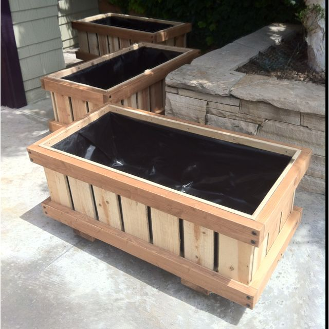 2 X 4 Rolling Raised Bed Planters On Wheels Cedar Boxes Reinforced With Special Ecological Safe Treate Raised Planter Boxes Raised Planter Beds Planter Boxes