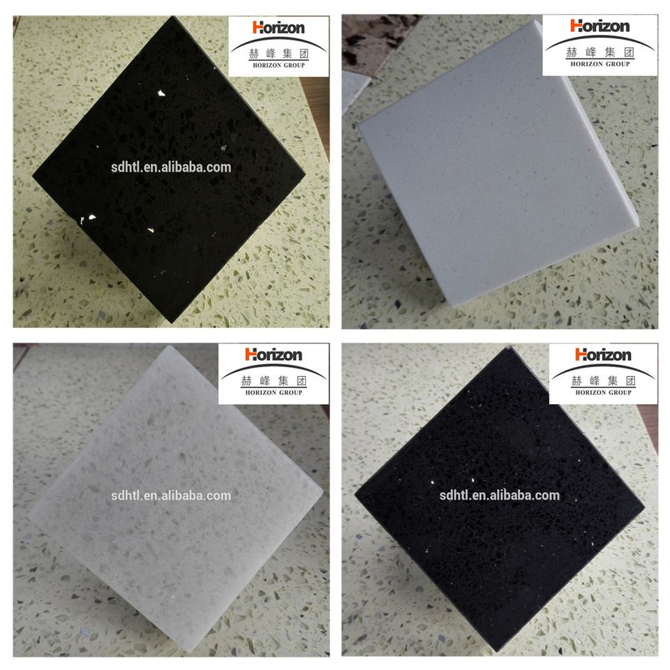 China Factory Price White Star Quartz Stone, Black Galaxy Quartz ...