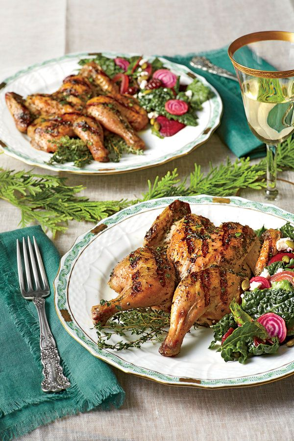 If you don't own kitchen shears, that's ok—a pair of heavy-duty scissors will work just as well.    Recipe: Grilled Cornish Hens with Herb Brine
