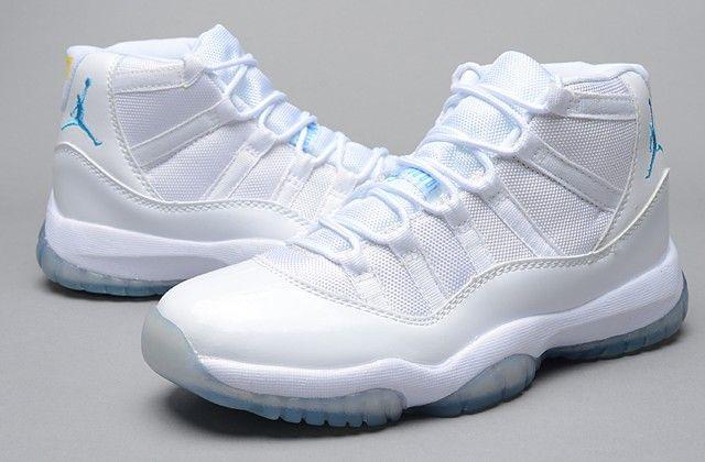 fast delivery good looking exclusive range Billig Nike Air Jordan 11 Retro Basketball Schuhe Blau Weiß ...