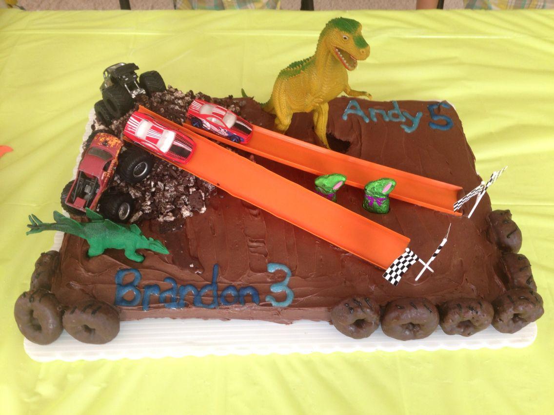 Race Car Hot Wheels Monster Truck Dinosaur Gymnastics Easter Monster Truck Birthday Party Ideas Cake Monster Truck Birthday Monster Trucks Birthday Party