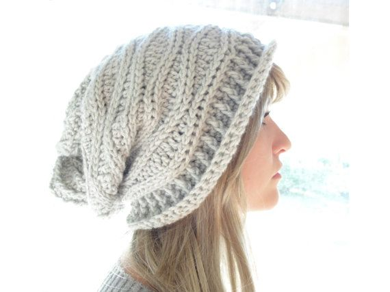 8cdee2e9ae8 Crochet PATTERN - Cabled Wrap Slouchy Hat