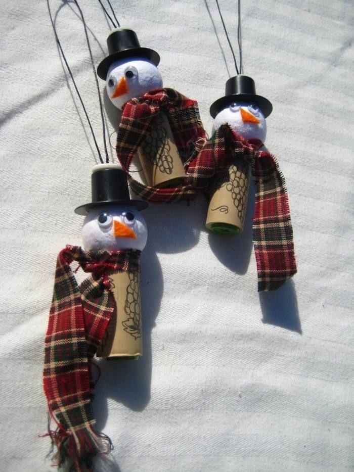 Aus Gebrauchte Korken Schneemannchen Basteln Recycling Ideen Zu