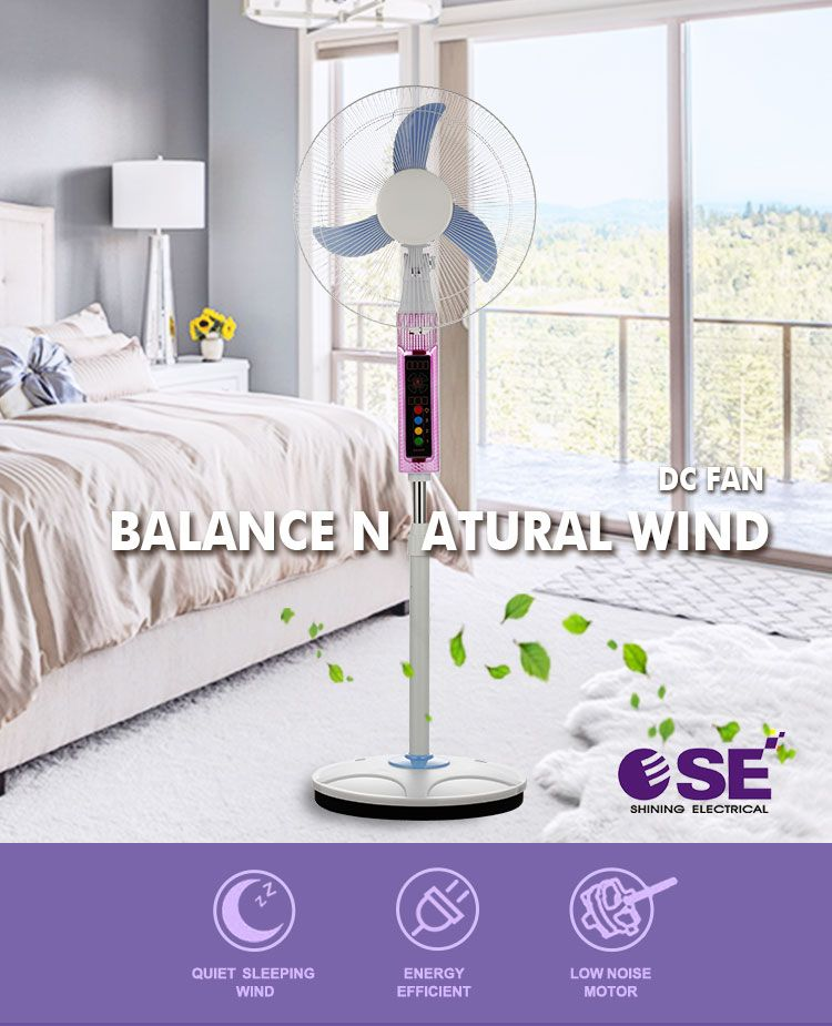New Ac Dc Usha China Rechargeable Pedestal Standing Fan Price