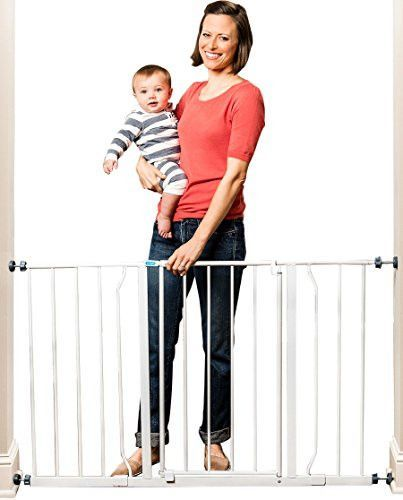 Regalo Easy Open 50 Inch Wide Baby Gate Pressure Mount With 2 Ext