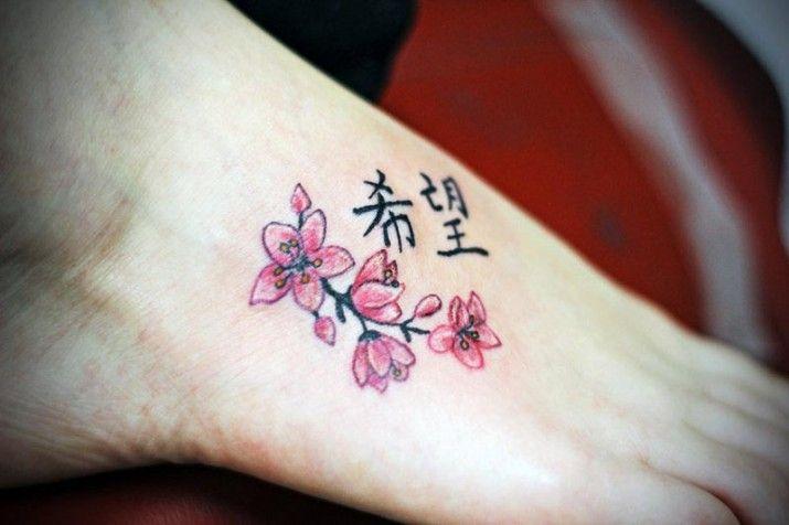 tatouage poignet fleur de cerisier. Black Bedroom Furniture Sets. Home Design Ideas