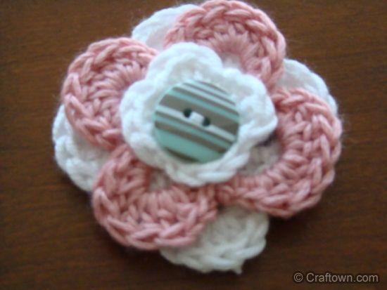Free Crochet Patterns Three Layered Flowers Crochet Flowers Fun