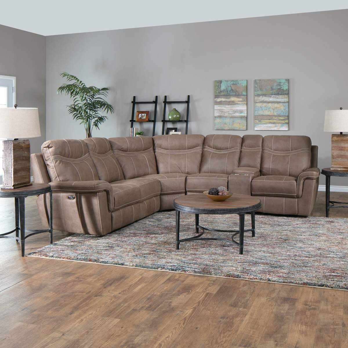 Touchdown The Chadwick Reclining Sectional Is The Winning Seating