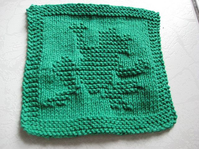Knitting Instructions For Dishcloths : Ravelry waving frog knitted dishcloth pattern by melissa