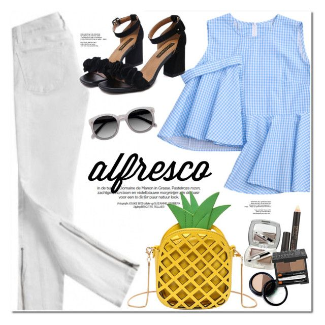 """Easy Breezy: Alfresco Dining"" by oshint ❤ liked on Polyvore featuring Current/Elliott and zaful"