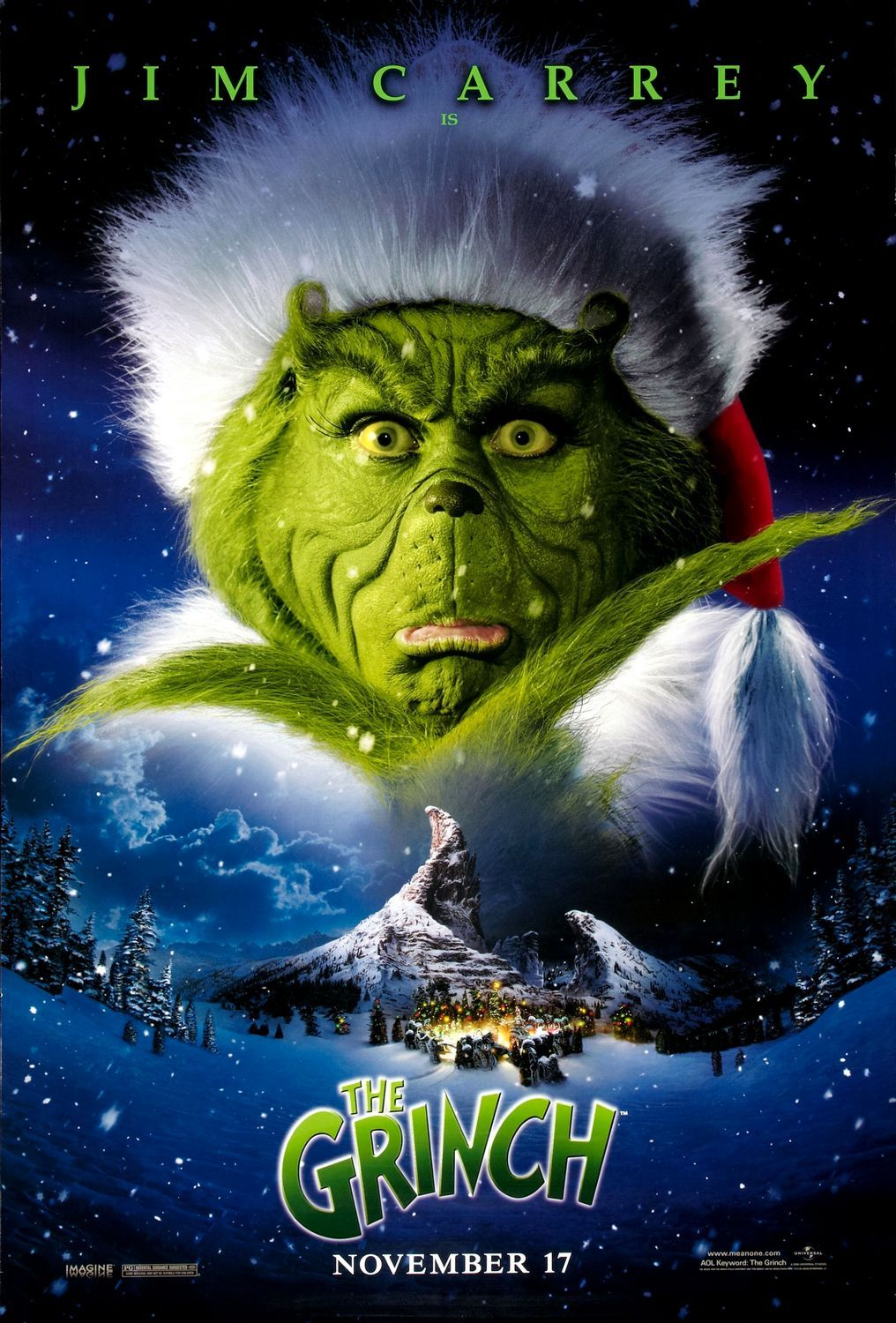 How The Grinch Stole Christmas 2000 A Creature Is Intent On Stealing Christmas The Grinch Movie Christmas Movies Grinch Stole Christmas