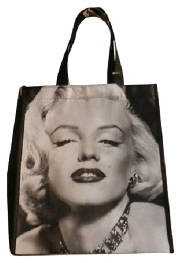 Marilyn Monroe Legends Icons Pinup Vintage Accessories Shop Handbags  Shopping Accessories Glamour Fashion Black   White Tote Bag. b2c7acae97