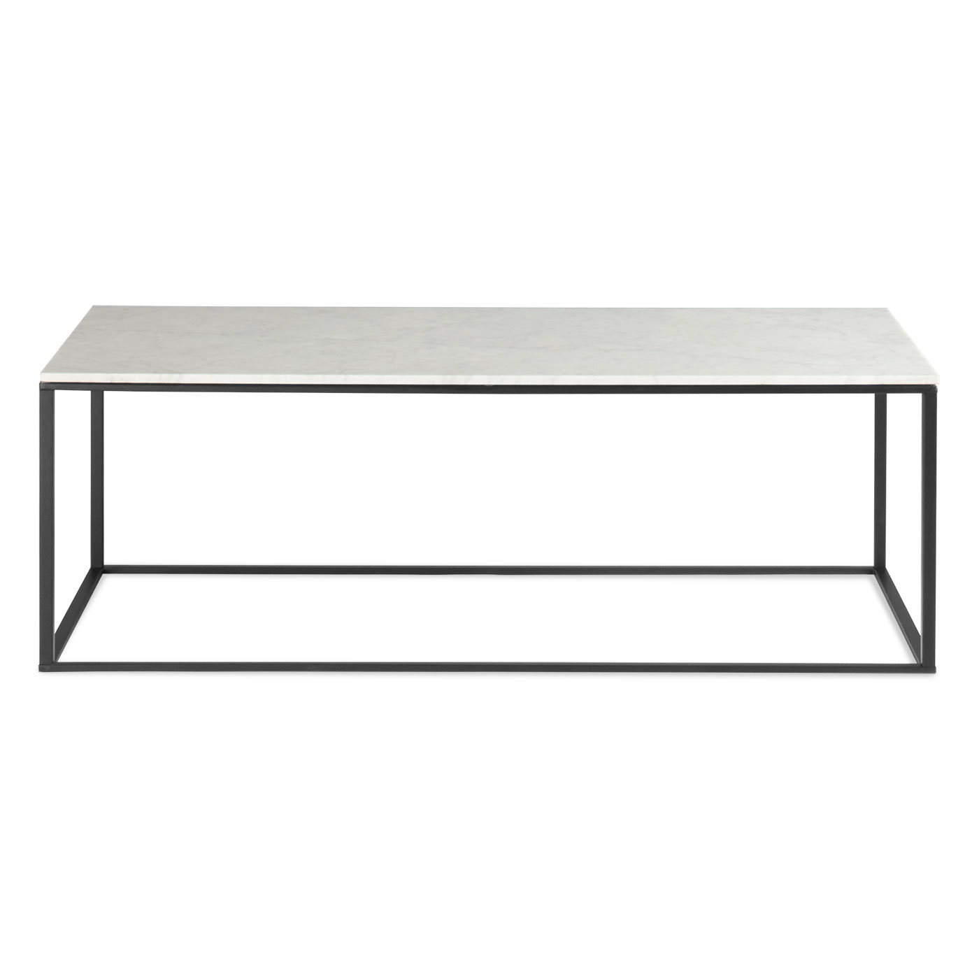 BLUDOT MINIMALISTA COFFEE TABLE BLACK BASE MARBLE WHITE TOP