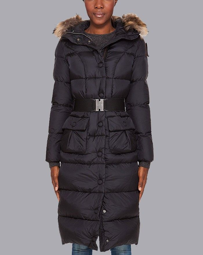 Parajumpers Extra Long Down Jacket Black Women | Parajumper ...