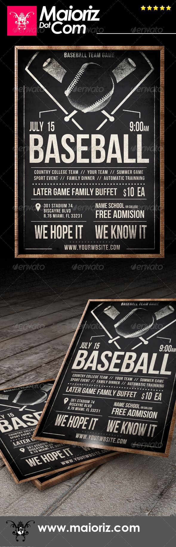 17 Best images about Product Flyers on Pinterest | Baseball party ...