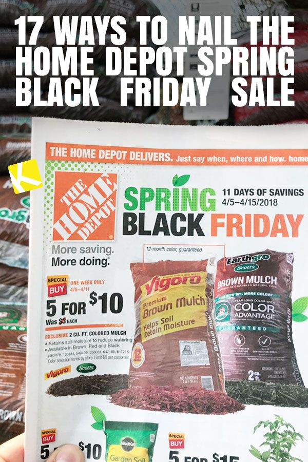 17 Ways To Nail The Home Depot Spring Black Friday Sale