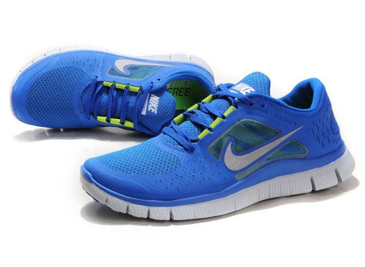 ac8a10714d10 Cheap Mens Nike Free Run 3 blue silver  79.00