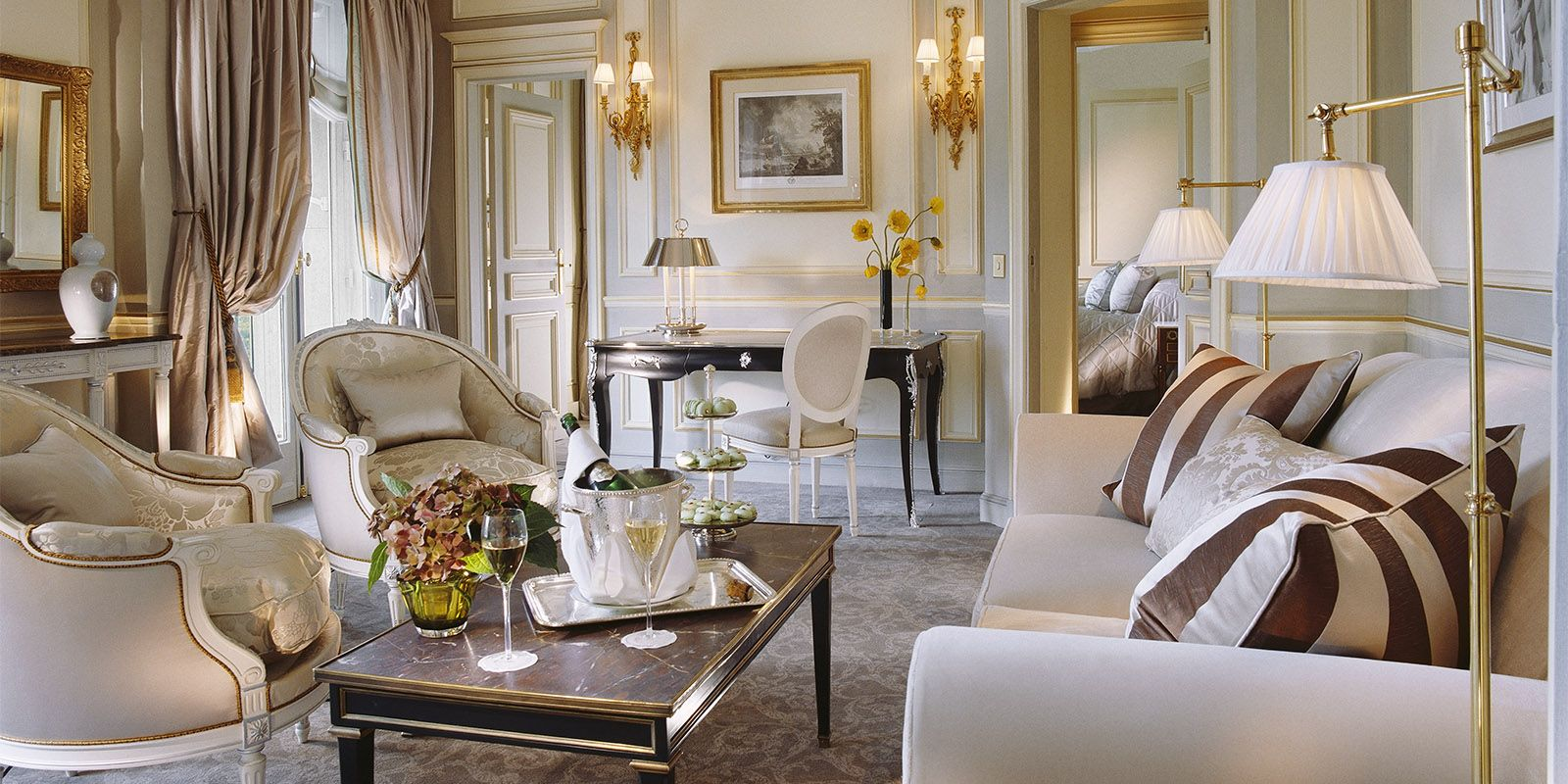 prestige suite paris le meurice architecture. Black Bedroom Furniture Sets. Home Design Ideas