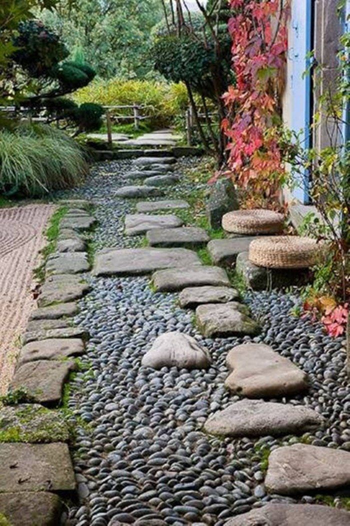 Beautiful Garden Stepping Stones With River Rocks Beautiful Garden Stepping Stones In Gard Garden Stepping Stones Small Garden With Stones Stone Garden Paths