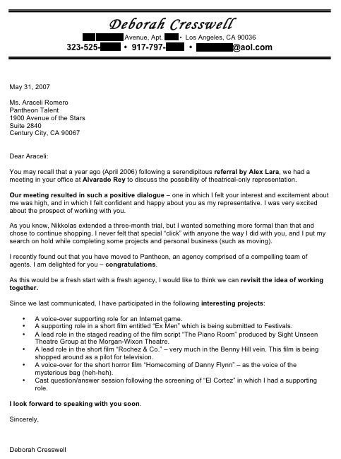 Cover Letter, Actor Cover Letter The Personal Statement On A Well - cold cover letter sample