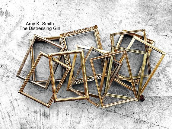 25 Gold Metal 5x7 Frames With Glass And Backing Bulk Set Vintage Rustic Set Of 25 Antique Picture Frame Wall Collage Wedding Table Numbers Antique Picture Frames Frame Wall Collage Vintage Photo Frames
