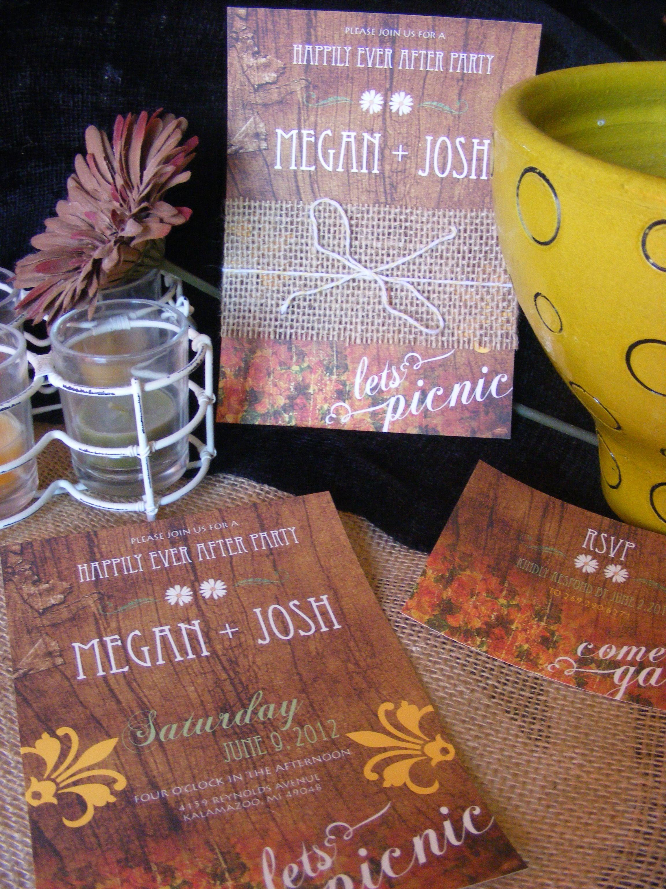 Picnic Themed Wedding Invitation   Blaz Girl Creative Design ...