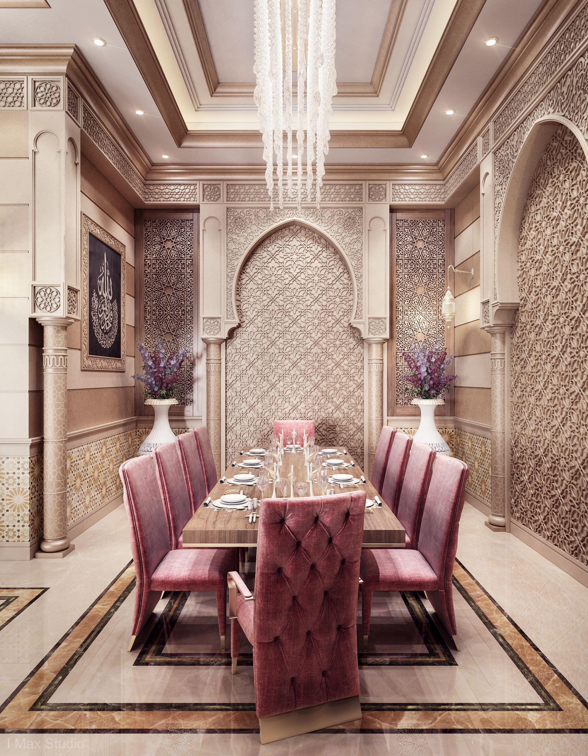 Modern Islamic Interior Design On Behance: Men Majlis & Dining Room & Kitchen