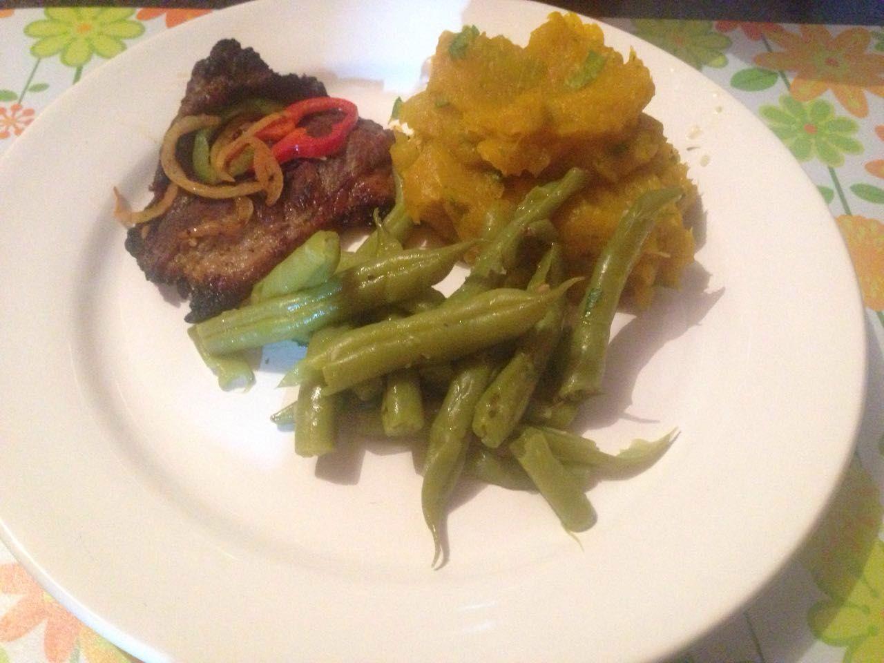Purê de abóbora Vargem & filé bovino grelhado  #lifestyle #vidasaudável #food