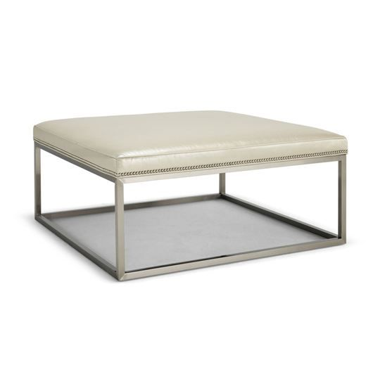 Groovy Mitchell Gold Duncan Ottoman Polished Chrome Duncan Square Pabps2019 Chair Design Images Pabps2019Com